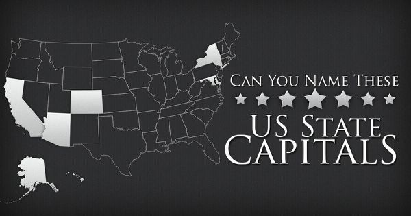 Can You Name These US State Capitals?