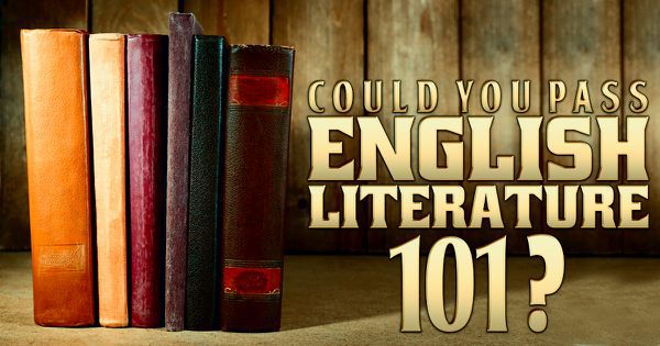 Could You Pass English Literature 101?