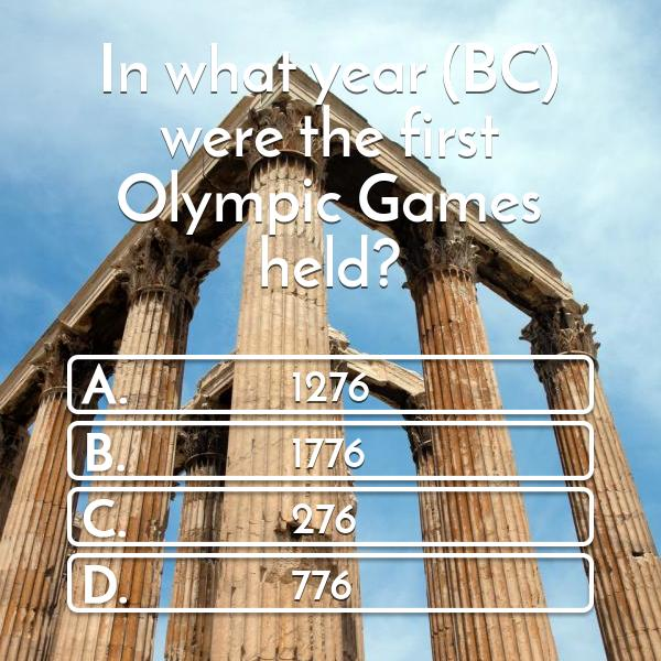 in-what-year-bc-were-the-first-olympic-games-held-