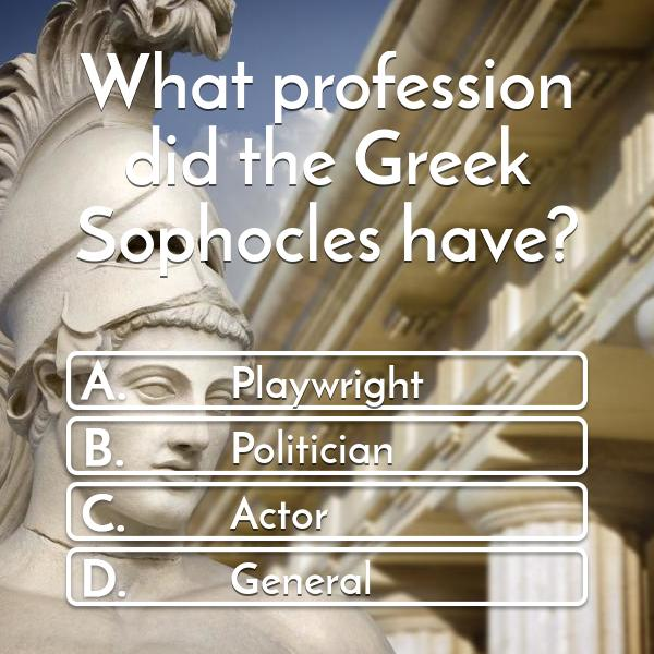 what-profession-did-the-greek-sophocles-have-