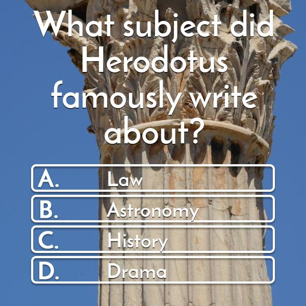 what-subject-did-herodotus-famously-write-about-