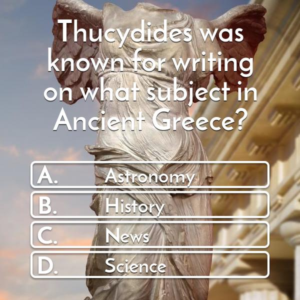 thucydides-was-known-for-writing-on-what-subject-in-ancient-greece-